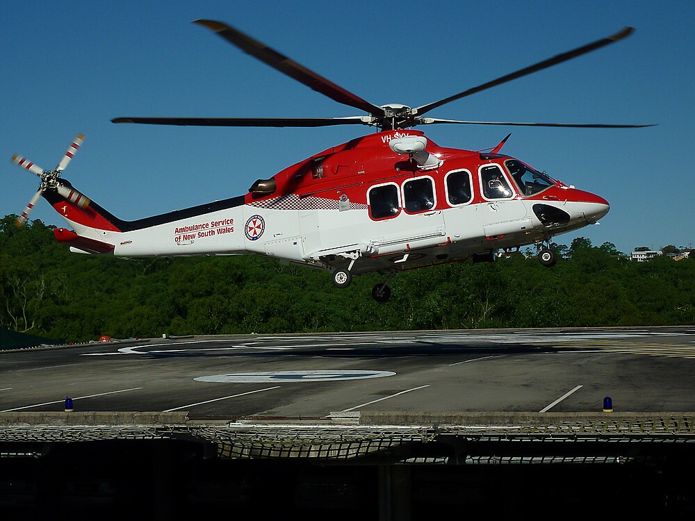 Emergency Helicopter, NSW by Sharon Brown