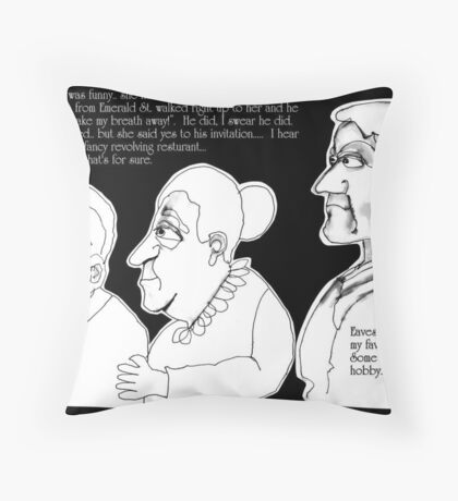 Over Hearing  Throw Pillow