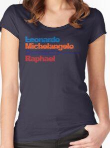 Leonardo, Michelangelo, Donatello, Raphael Women's Fitted Scoop T-Shirt