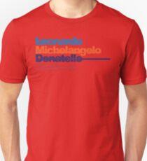 Leonardo, Michelangelo, Donatello, Raphael Unisex T-Shirt