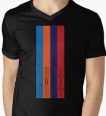 Leonardo, Michelangelo, Donatello, Raphael - Stripes Men's V-Neck T-Shirt
