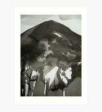dark peak.... Art Print