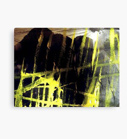 dawn sun burst... yellow flames below Canvas Print
