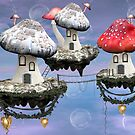 Mushrooms town by Mulholland