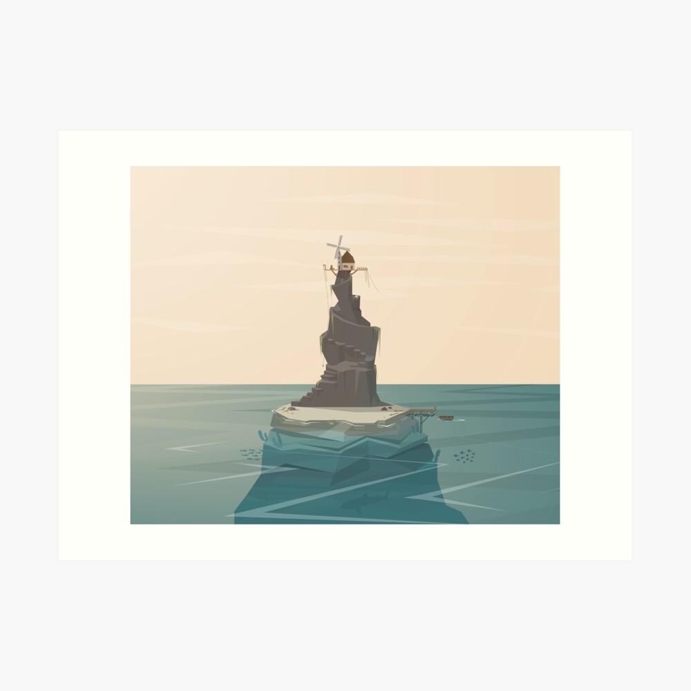 Isla Windmill Lámina artística