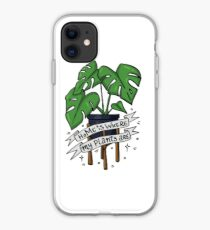 Monstera plant mom - Home is where my plants are iPhone Case
