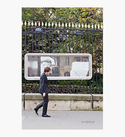 Man in a Street of Paris Photographic Print
