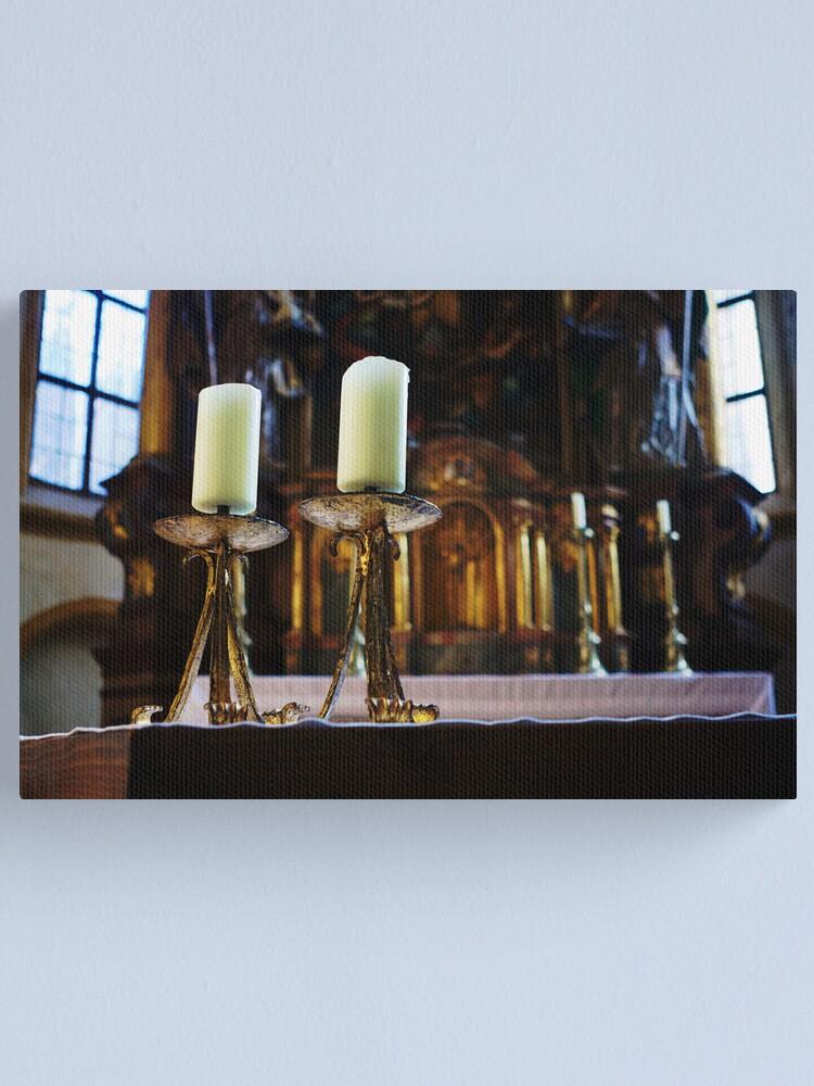 Alternate view of St. Nicolas Church Interior Canvas Print