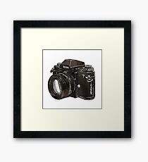Analog 35mm Nikon F3 single reflex camera Framed Print