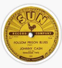 Johnny Cash - Folsom Prison Blues Vinyl Record Sticker