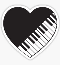 Piano Heart Sticker