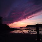 The clouds so pink, the sun begins to set by Jess Collett
