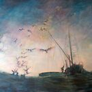 Homebound fishing boat by Lorenzo Castello