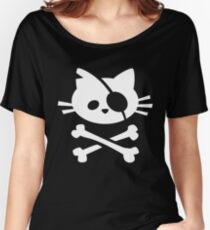 Pirate Cat: Skull and Crossbone Women's Relaxed Fit T-Shirt