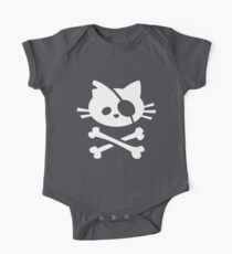 Pirate Cat: Skull and Crossbone One Piece - Short Sleeve