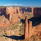 Spider Rock at Canyon De Chelley by Alex Cassels