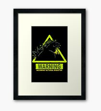 Incoming Natural Disaster Framed Print