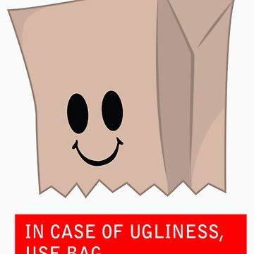 Ugliness Paper Bag  by madkidflava