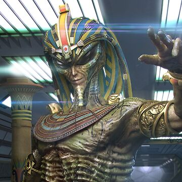 Alien Egyptian Pharaoh (Cropped) by webso