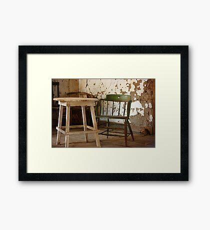 Green Chair Framed Print