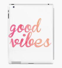 Good Vibes watercolor pink iPad Case/Skin