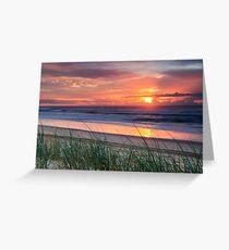 Pink Sunrise - Yaroomba Beach, Qld Greeting Card