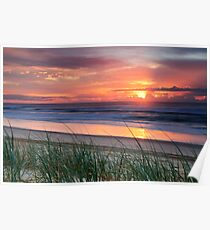 Pink Sunrise - Yaroomba Beach, Qld Poster