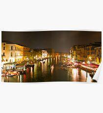 Four Seconds in Venice - view from the Ponte di Rialto Poster
