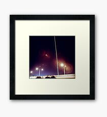 Plane trials Framed Print