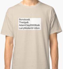 U2: Band Member Names Classic T-Shirt