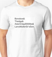 U2: Band Member Names T-Shirt