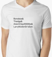 U2: Band Member Names Mens V-Neck T-Shirt