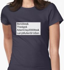 U2: Band Member Names Womens Fitted T-Shirt