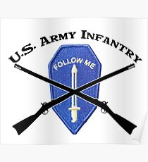 U.S. Infantry - Follow Me Poster