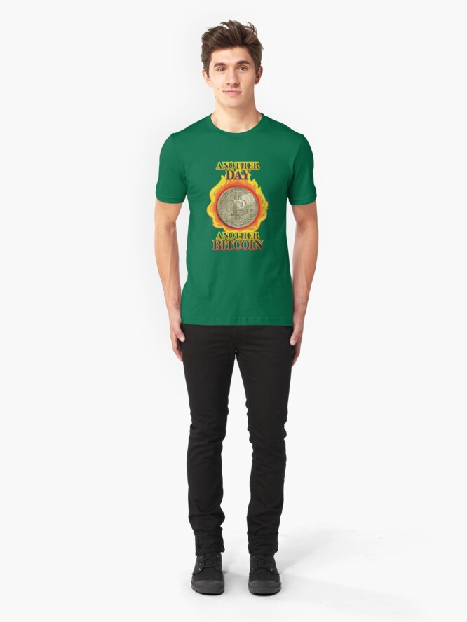 Alternate view of Bitcoin Investor. Slim Fit T-Shirt