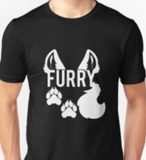 FURRY -white text- T-Shirt