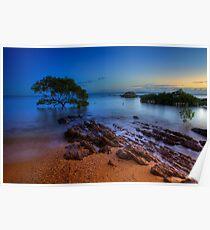 Sunrise at Hervey Bay beach Poster