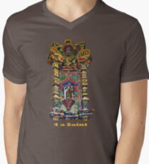 4 a Saint Mens V-Neck T-Shirt