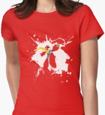 Protoman Paint Explosion Women's Fitted T-Shirt