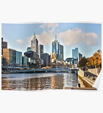 The smoggy city - Melbourne Aust Poster