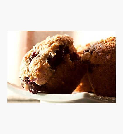 Muffin's wrong with blueberries Photographic Print