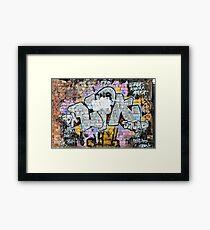 Grunge Fraffiti Wall. Framed Print
