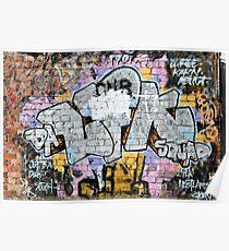 Grunge Fraffiti Wall. Poster