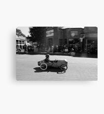 Billy cart boy Canvas Print