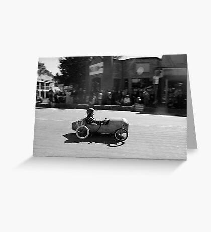 Billy cart boy Greeting Card