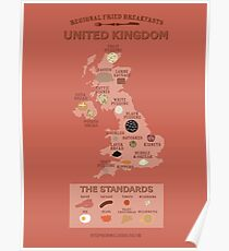 Regional Fried Breakfasts of the United Kingdom Poster