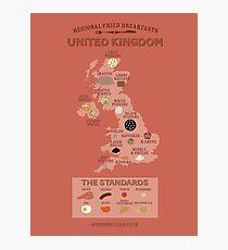 Regional Fried Breakfasts of the United Kingdom Photographic Print