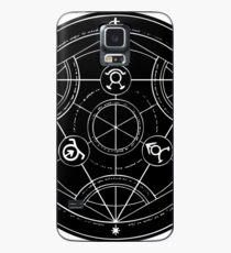 Black Alchemy Circle Case/Skin for Samsung Galaxy