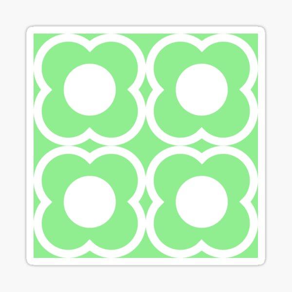 Retro Blumen Sticker