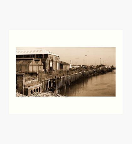 Newhaven East Quay Art Print